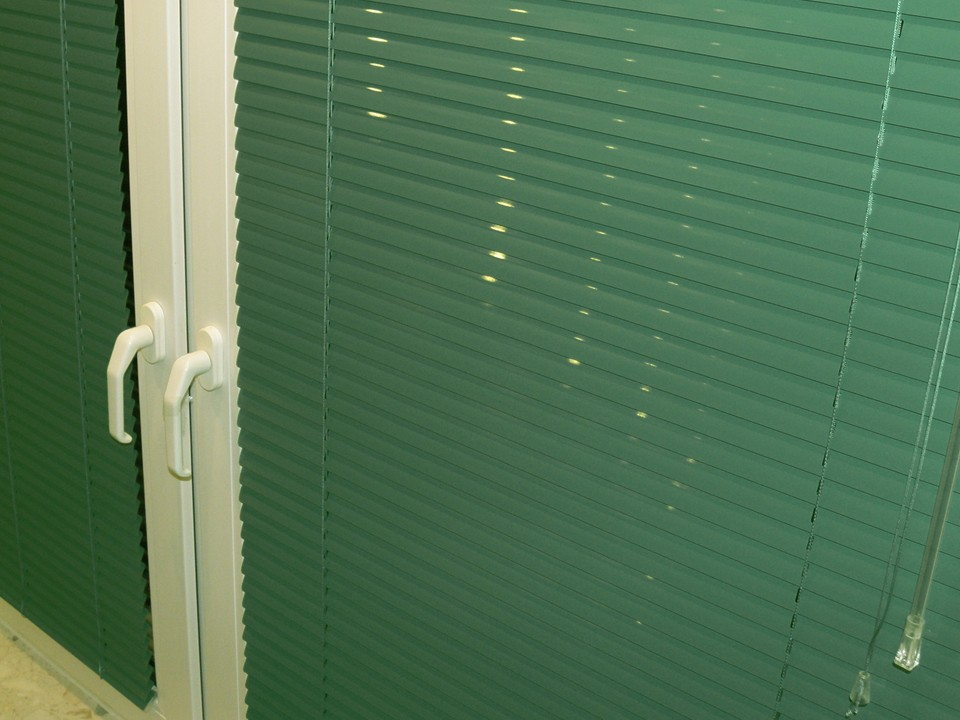Żaluzje aluminiowe zielone